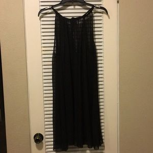 H & M black sheer mini dress